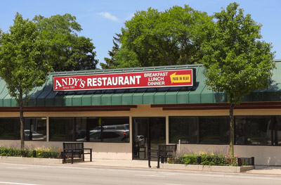 Andy's Restaurant located on Virginia Street (Route 14) in Crystal Lake, Illinois
