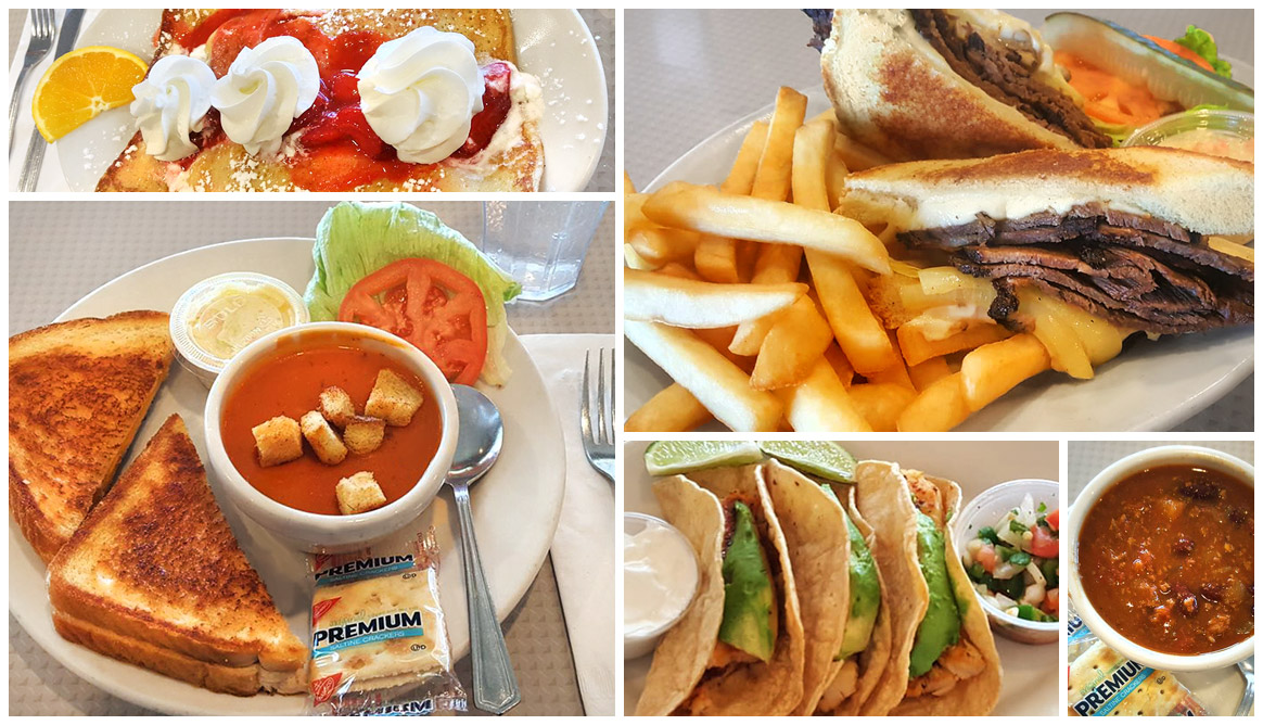 A selection of delicious breakfast and lunch entrees from Andy's Restaurant in Crystal Lake